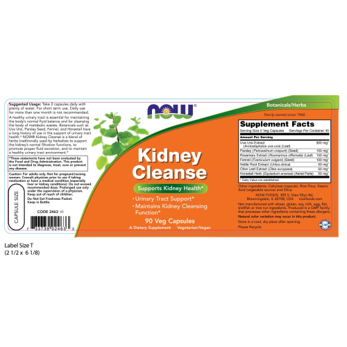 NOW FOODS -Kidney Cleanse - 90 Veg Capsules