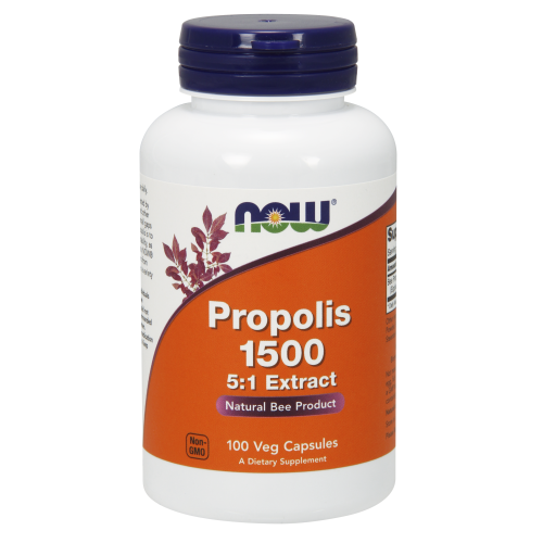 NOW FOODS -Propolis 1500 mg - 100 Capsules