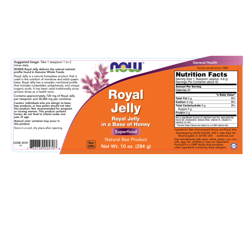 NOW FOODS -Royal Jelly - 10 oz