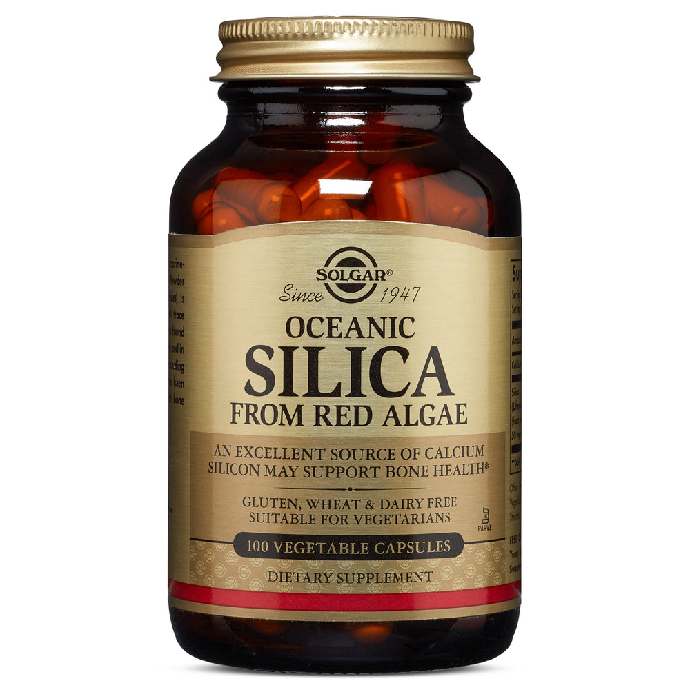 Solgar- Oceanic Silica 25 mg Vegetable Capsules- 100