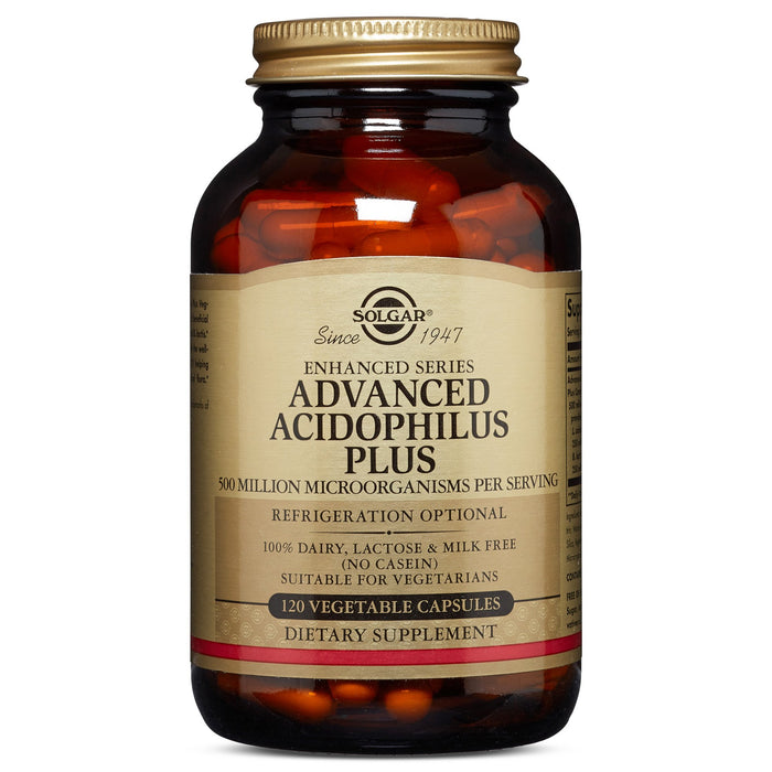 Solgar- Advanced Acidophilus Plus Vegetable Capsules- 120