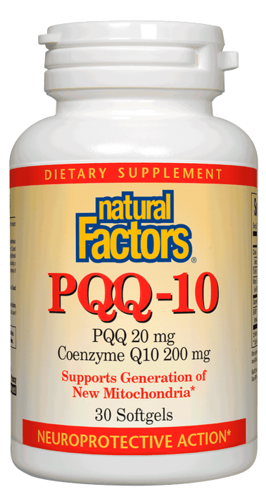 Natural Factors-PQQ-10 PQQ 20 mg / CoQ10 200 mg 30 SG
