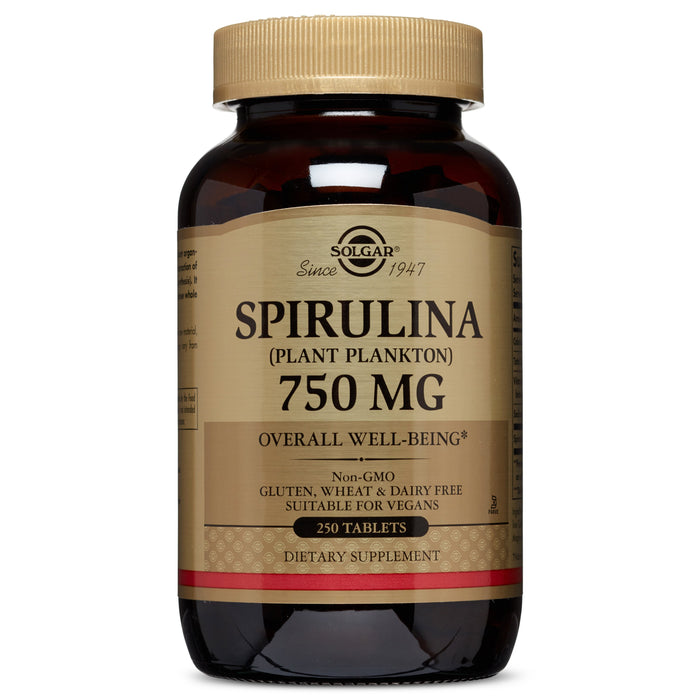 Solgar- Spirulina 750 mg Tablets- 250
