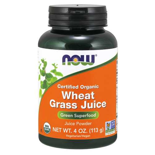 NOW FOODS -Wheat Grass Juice Powder, Organic - 4 oz.