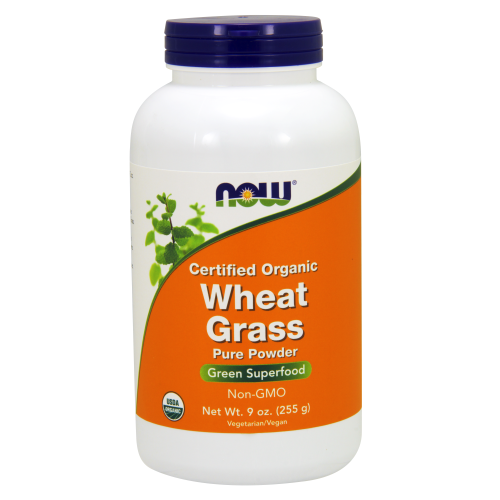 NOW FOODS -Wheat Grass Powder - 9 oz. - Organic, Non-GE