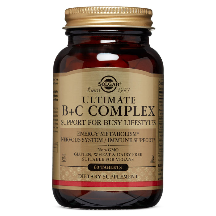 Solgar- Ultimate B+C Complex Tablets- 60