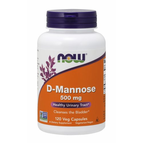 NOW FOODS -D-Mannose 500 mg - 120 Veg Capsules