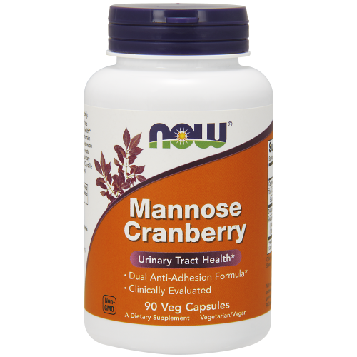 NOW FOODS -Mannose Cranberry - 90 Veg Capsules