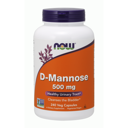NOW FOODS -D-Mannose 500 mg - 240 Veg Capsules