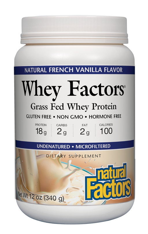 Natural Factors-Whey Factors® Powder Drink Mix Vanilla 12 OZ