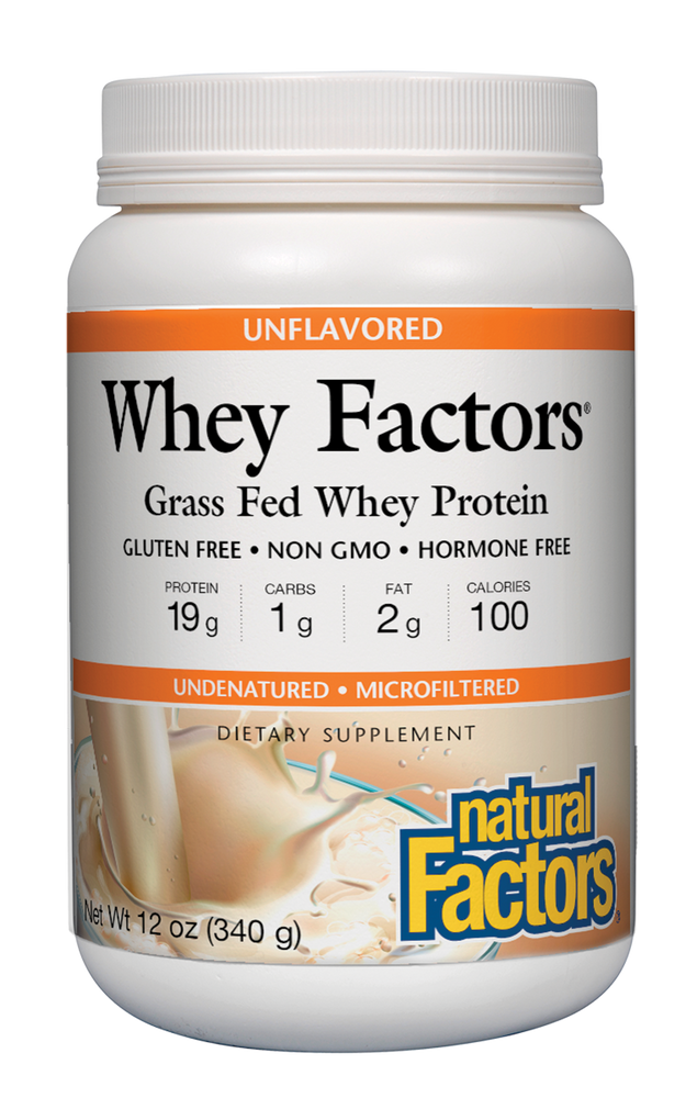 Natural Factors-Whey Factors® Powder Drink Mix Unflavored 12 OZ