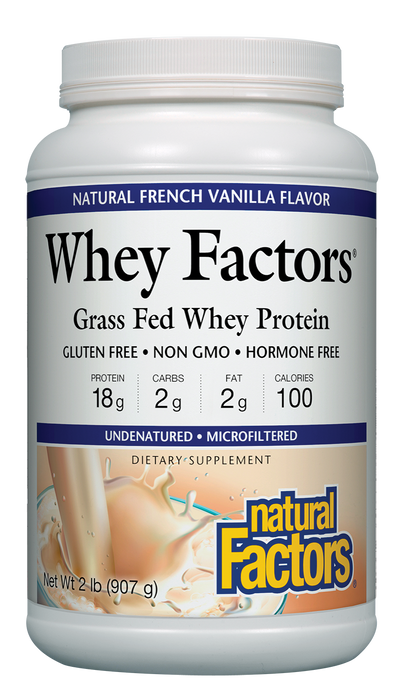 Natural Factors-Whey Factors® Powder Drink Mix Vanilla 2 LBS