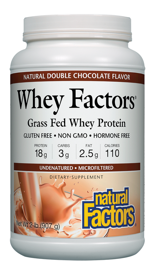 Natural Factors-Whey Factors® Powder Drink Mix Chocolate 2 LBS