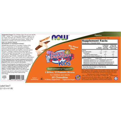 NOW FOODS -BerryDophilus™ - 60 Chewables