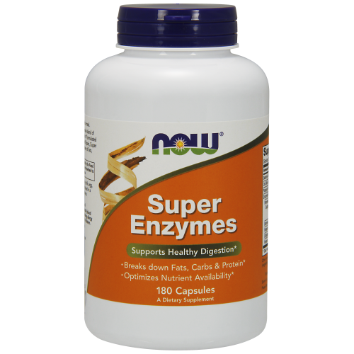 NOW FOODS -Super Enzymes - 180 Capsules