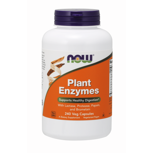 NOW FOODS -Plant Enzymes - 240 Veg Capsules