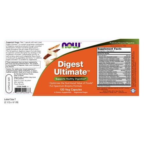 NOW FOODS -Digest Ultimate™ - 120 Veg Capsules