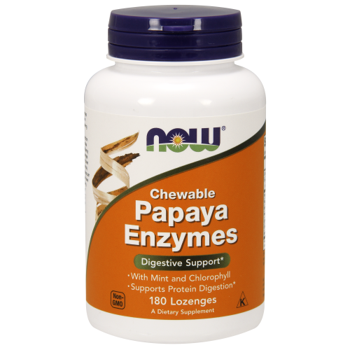NOW FOODS -Papaya Enzyme - 180 Lozenges