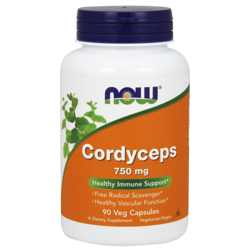 NOW FOODS -Cordyceps 750 mg - 90 Veg Capsules