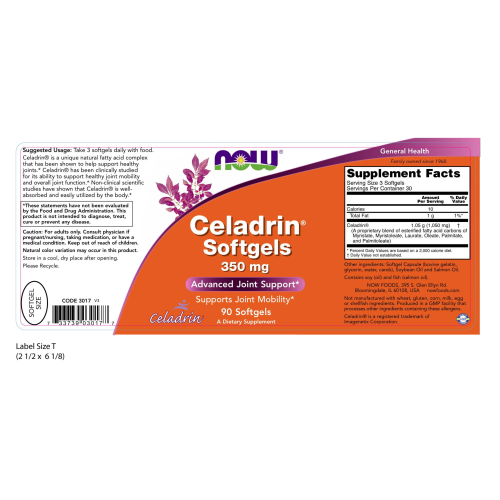 NOW FOODS -Celadrin 350 mg - 90 Softgels