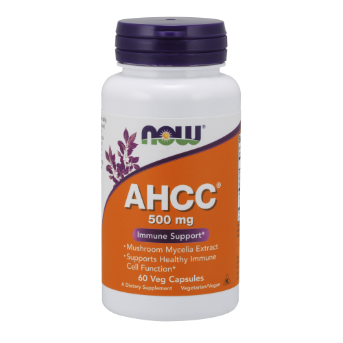 NOW FOODS -AHCC® 500 mg - 60 Veg Capsules