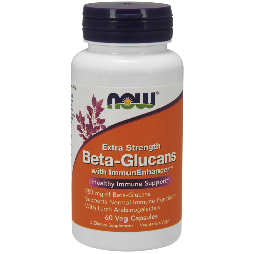 NOW FOODS -Beta-Glucans with ImmunEnhancer™, Extra Strength - 60 Veg Capsules