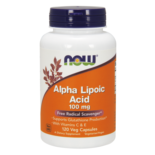 NOW FOODS -Alpha Lipoic Acid 100 mg - 120 Veg Capsules