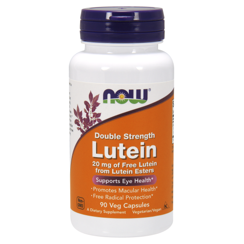 NOW FOODS -Lutein, Double Strength 20 mg - 90 Veg Capsules