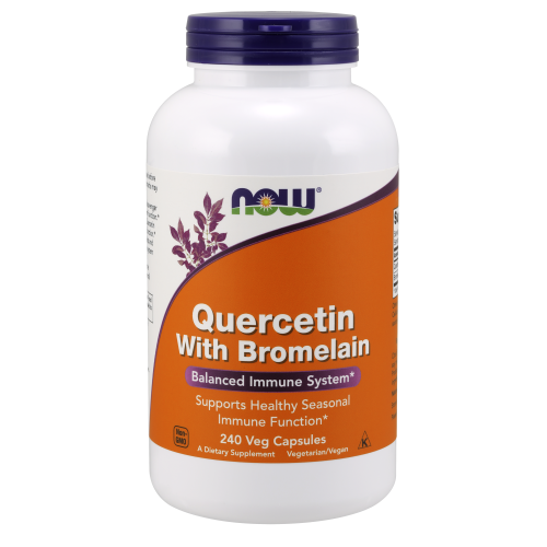 NOW FOODS -Quercetin with Bromelain - 240 Veg Capsules