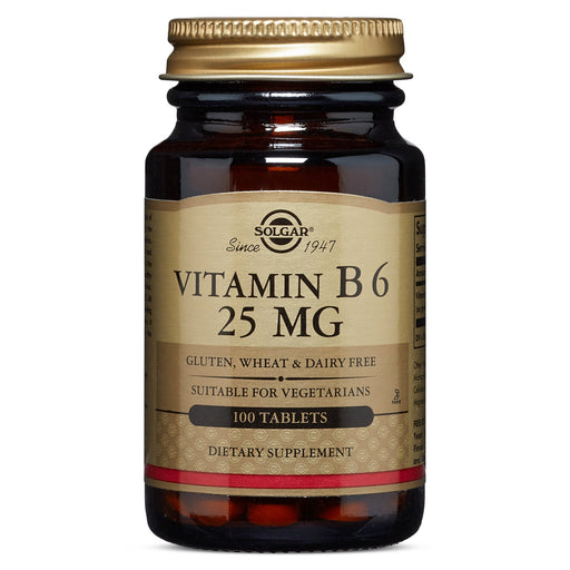 Solgar- Vitamin B6 25 mg Tablets- 100