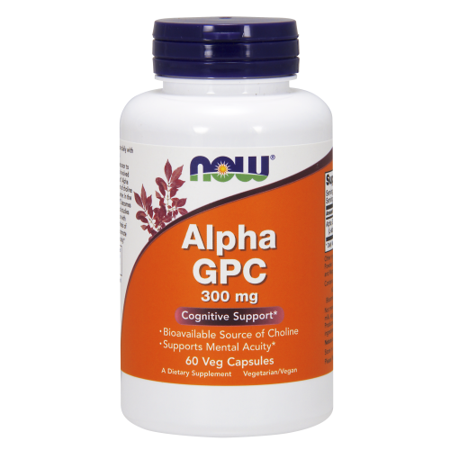 NOW FOODS -Alpha GPC 300 mg - 60 Veg Capsules