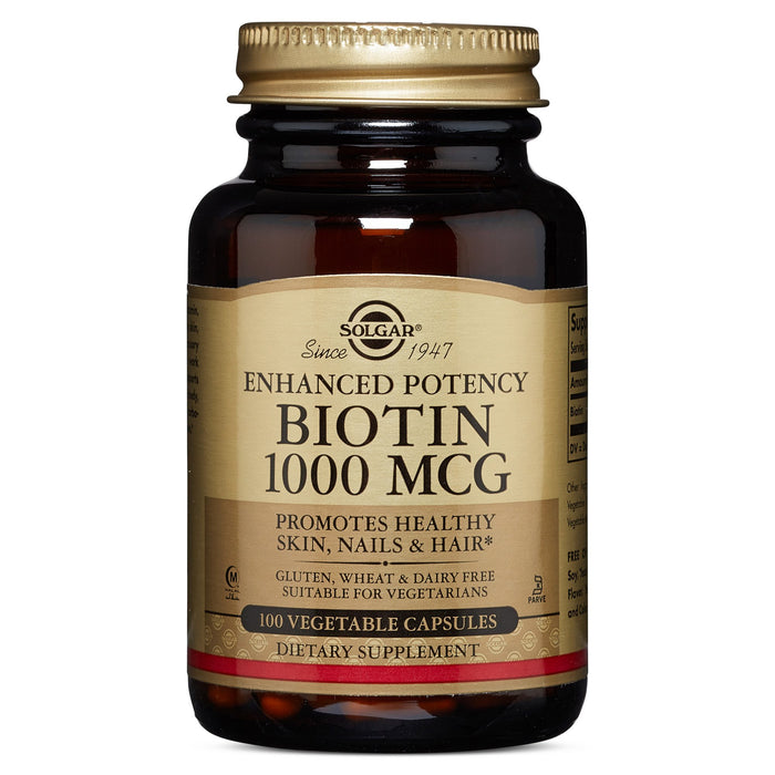Solgar- Biotin 1000 mcg Vegetable Capsules- 100