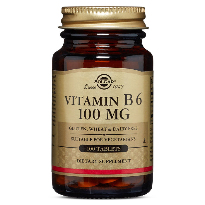 Solgar- Vitamin B6 100 mg Tablets- 100