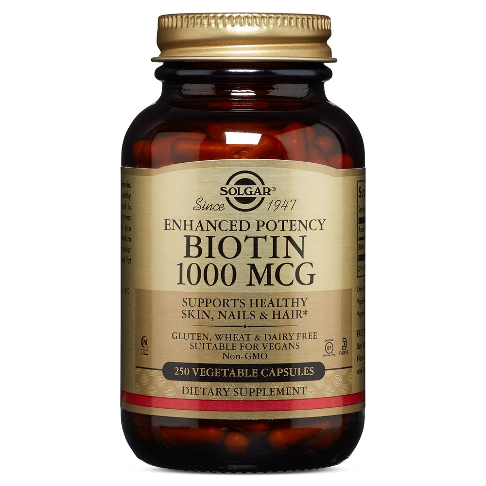 Solgar- Biotin 1000 mcg Vegetable Capsules- 250