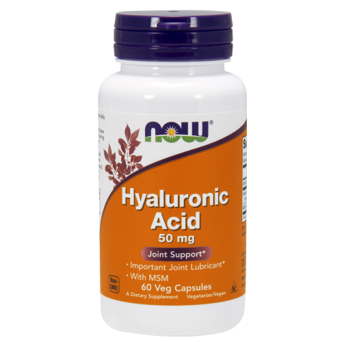 NOW FOODS -Hyaluronic Acid with MSM - 60 Veg Capsules