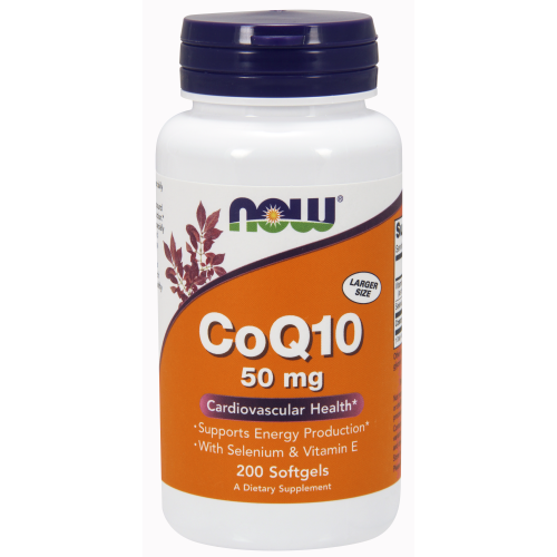 NOW FOODS -CoQ10 50 mg - 200 Softgels