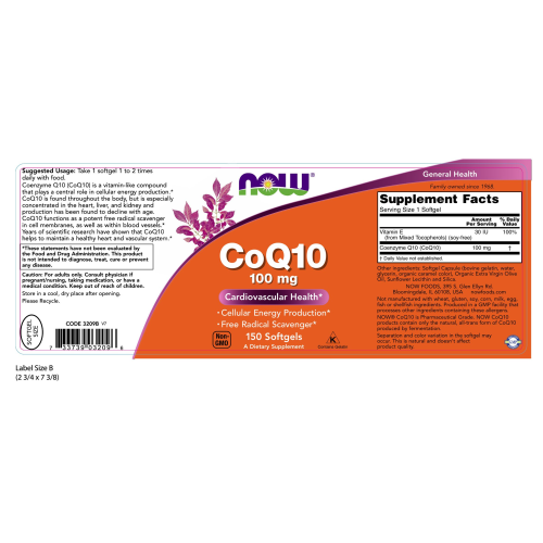 NOW FOODS -CoQ10 100 mg - 150 Softgels