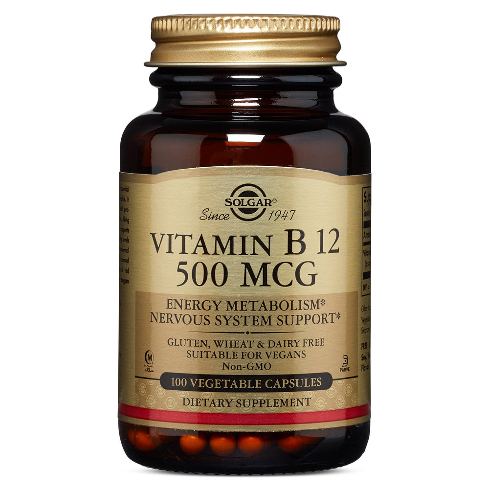 solgar vitamin b12 500 mcg vegetable capsules 100