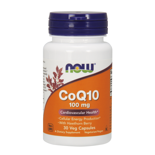 NOW FOODS -CoQ10 100 mg with Hawthorn Berry Vegetarian - 30 Veg Capsules