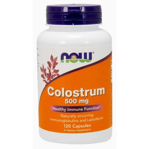 NOW FOODS -Colostrum 500 mg - 120 Veg Capsules
