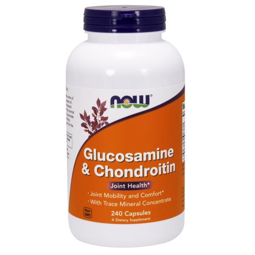 NOW FOODS -Glucosamine & Chondroitin - 240 Capsules