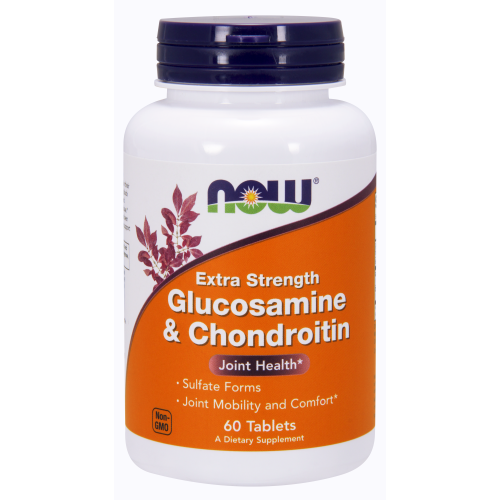NOW FOODS -Glucosamine & Chondroitin Extra Strength - 60 Tablets