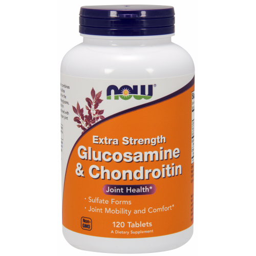 NOW FOODS -Glucosamine & Chondroitin Extra Strength - 120 Tablets