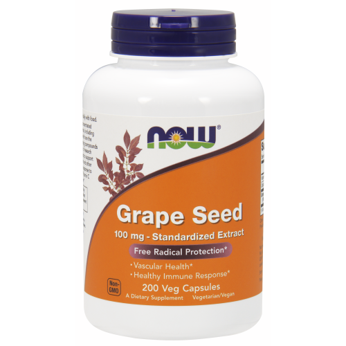 NOW FOODS -Grape Seed 100 mg - 200 Veg Capsules