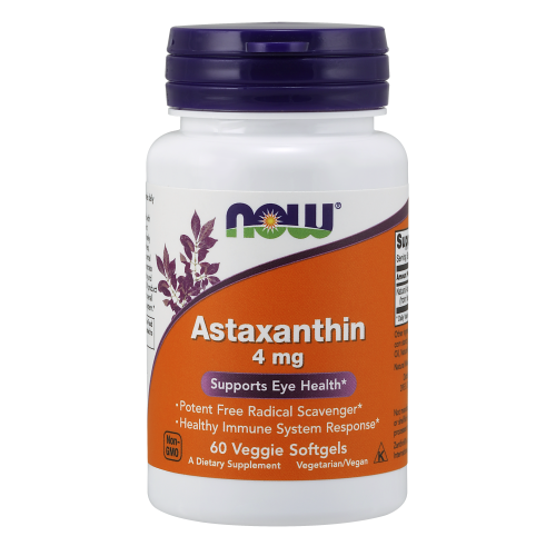 NOW FOODS -Astaxanthin 4 mg - 60 Veggie Softgels