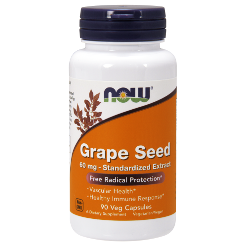 NOW FOODS -Grape Seed 60 mg - 90 Veg Capsules