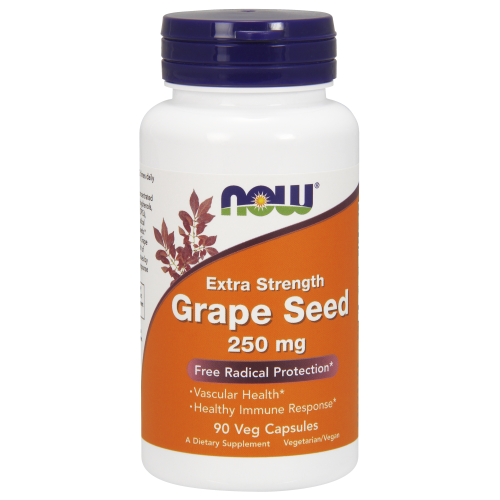 NOW FOODS -Grape Seed, Extra Strength 250 mg - 90 Veg Capsules