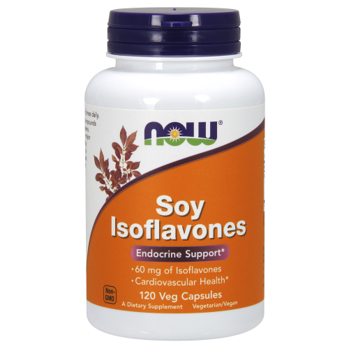 NOW FOODS -Soy Isoflavones 60 mg - 120 Veg Capsules