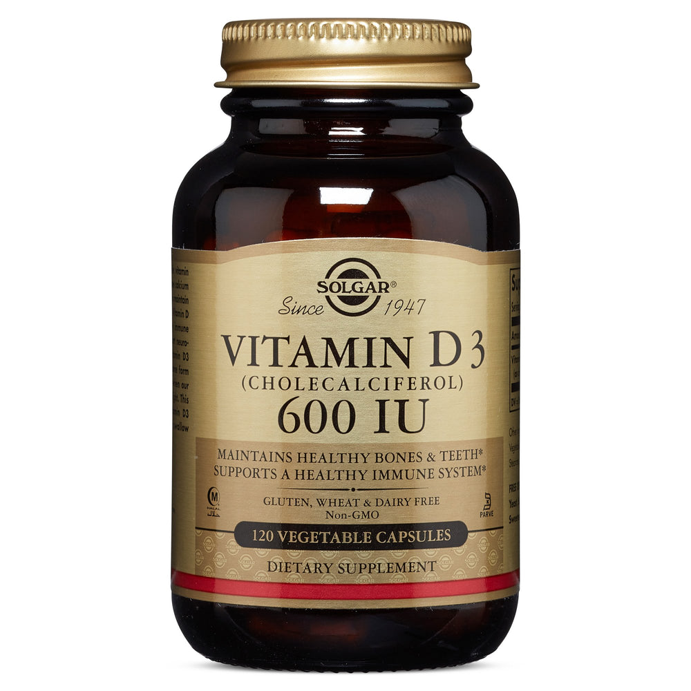 Solgar- Vitamin D3 (Cholecalciferol) 600 IU Vegetable Capsules- 120