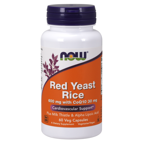 NOW FOODS -Red Yeast Rice 600 mg with CoQ10 30 mg - 60 Veg Capsules